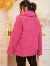 Load image into Gallery viewer, TEDDY COMFY COAT (FUSCHIA)