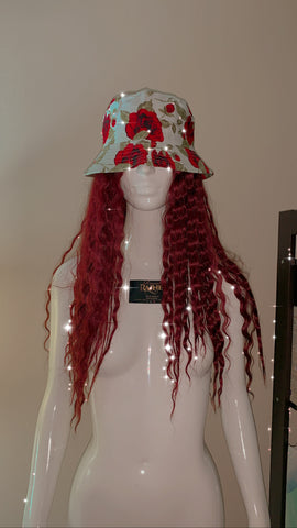 RED ROSE BUCKET HAT