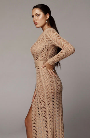 Amy one shoulder dress (KHAKI) - RoyalRaine