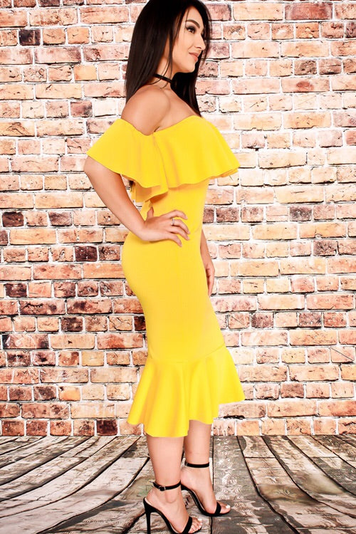 Trumpet Ruffle Dress