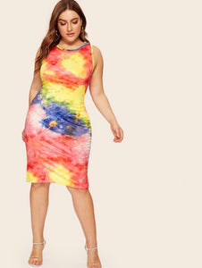 CURVY DIVA TIE DYE DRESS - RoyalRaine