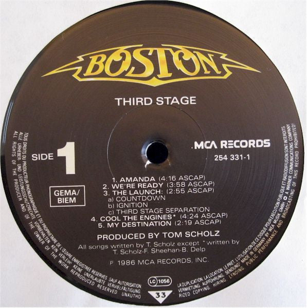 boston third stage record pusher vinyl records online. Black Bedroom Furniture Sets. Home Design Ideas