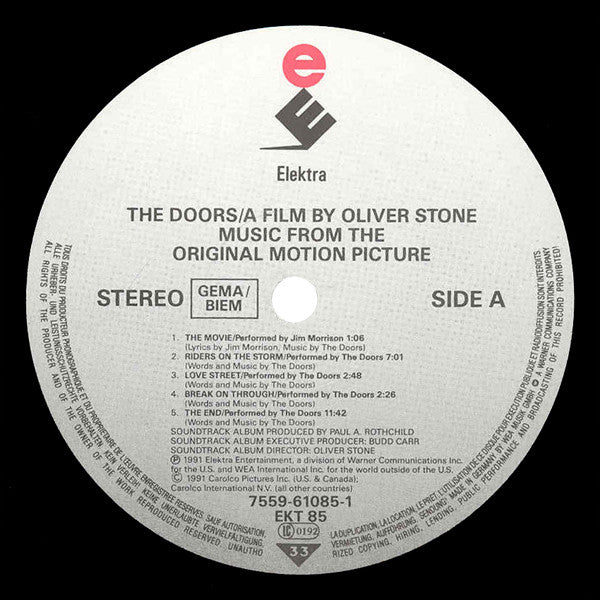 Additional media; Doors - OST · Doors - OST  sc 1 st  RecordPusher.com & Doors - OST | Record Pusher | Vinyl Records Online