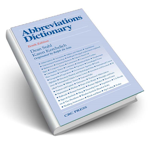Abbreviations Dictionary, Tenth Edition