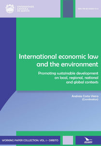"Front cover of the digital textbook, ""International Economic Law and The Environment - Promoting Sustainable Development on Local, Regional, National and Global Contexts"" at the MacawPress online bookstore."