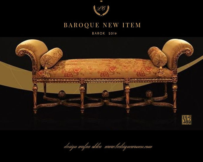 Baroque chaise lounge cleopatra