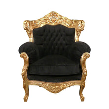 Load image into Gallery viewer, Barok fauteuil  penelope chique  goud- zwart