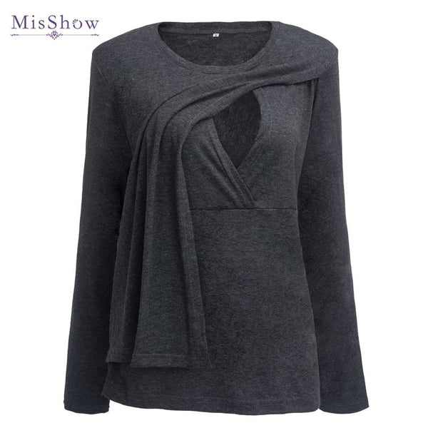 e00bdac7a36 100% Real Sample Plus Size Pregnancy Autumn Spring 3 4 Sleeves Maternity  Clothes Breastfeeding