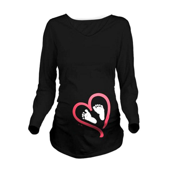 8d48ee6168c6 Maternity Clothes New Maternity Long Sleeve Tshirt Casual Maternity  Clothing Clothes For Pregnant Women Maternity Dress