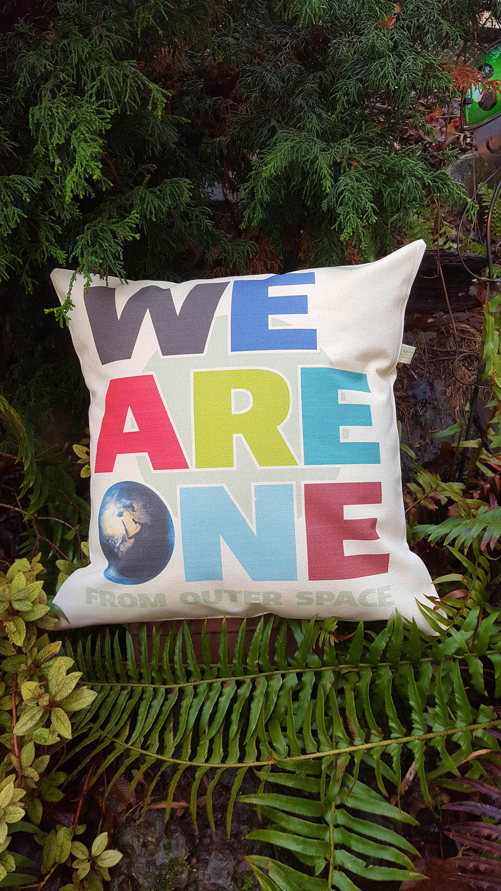 We Are One From Outer Space Canvas Pillow Case