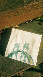 St. Johns Bridge Portland Oregon Kitchen Towel