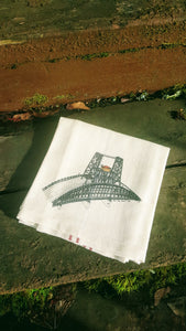 Steel Bridge Portland Oregon Kitchen Towel