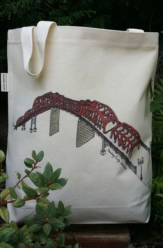 Broadway Bridge Portland Oregon Canvas Shoulder Bag