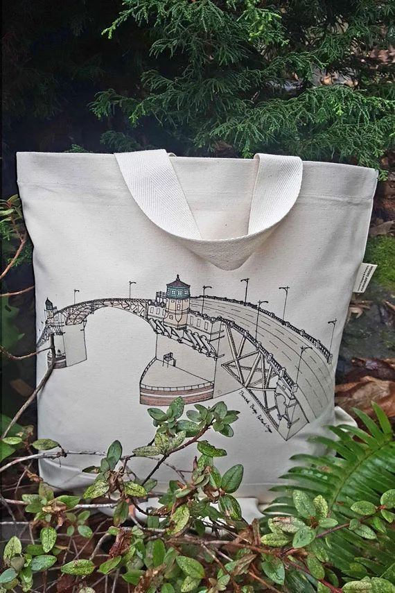 Burnside Bridge Portland Oregon Canvas Shoulder Bag