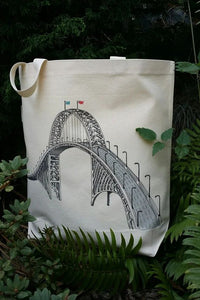 Fremont Bridge Portland Oregon Canvas Shoulder Bag