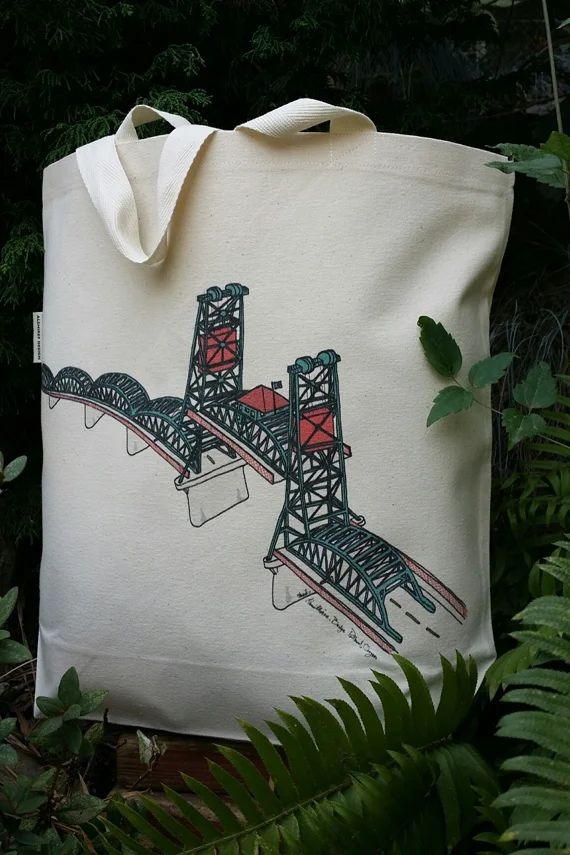 Hawthorne Bridge Portland Oregon Canvas Shoulder Bag