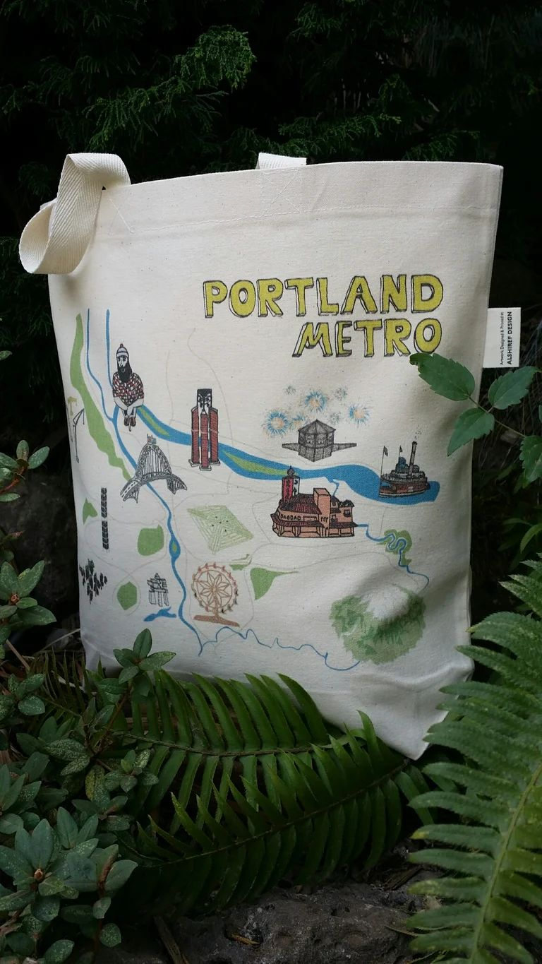 Portland Metro Oregon Canvas Shoulder Bag