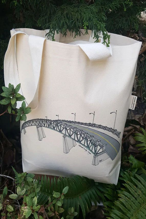Old Sellwood Bridge Portland Oregon Canvas Shoulder Bag
