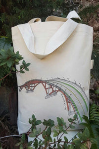 Sellwood Bridge Portland Oregon Canvas Shoulder Bag