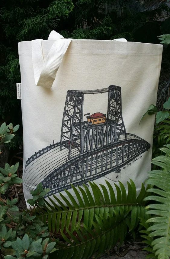 Steel Bridge Portland Oregon Canvas Shoulder Bag