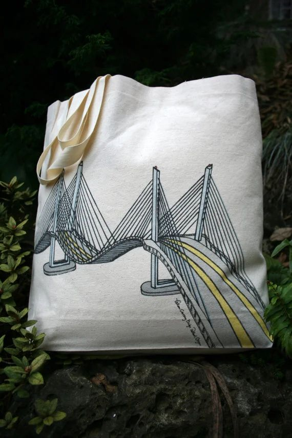 Tilikum Crossing Bridge of the People Portland Oregon Canvas Shoulder Bag