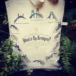 What's Up Bridges? Portland Oregon Canvas Shoulder Bag