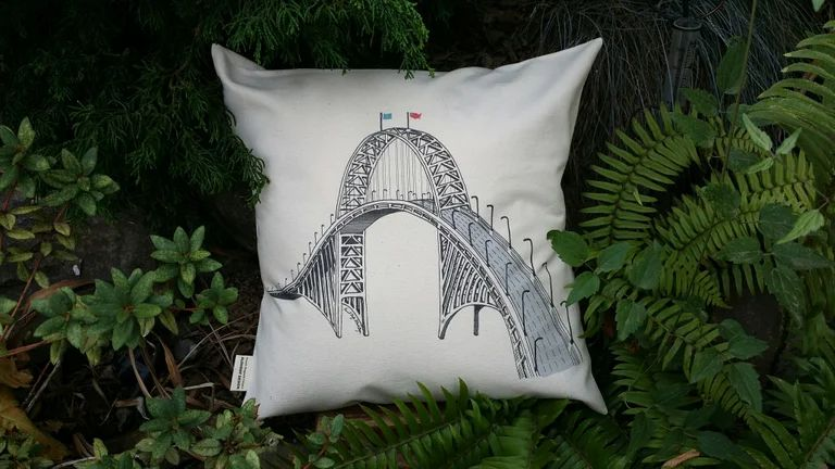 Fremont Bridge Portland Oregon Canvas Pillow Case