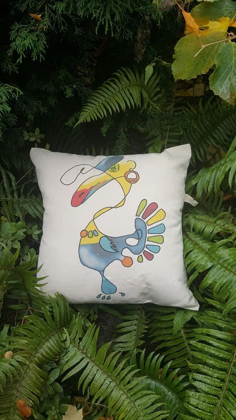 Toucan Canvas Pillow Case