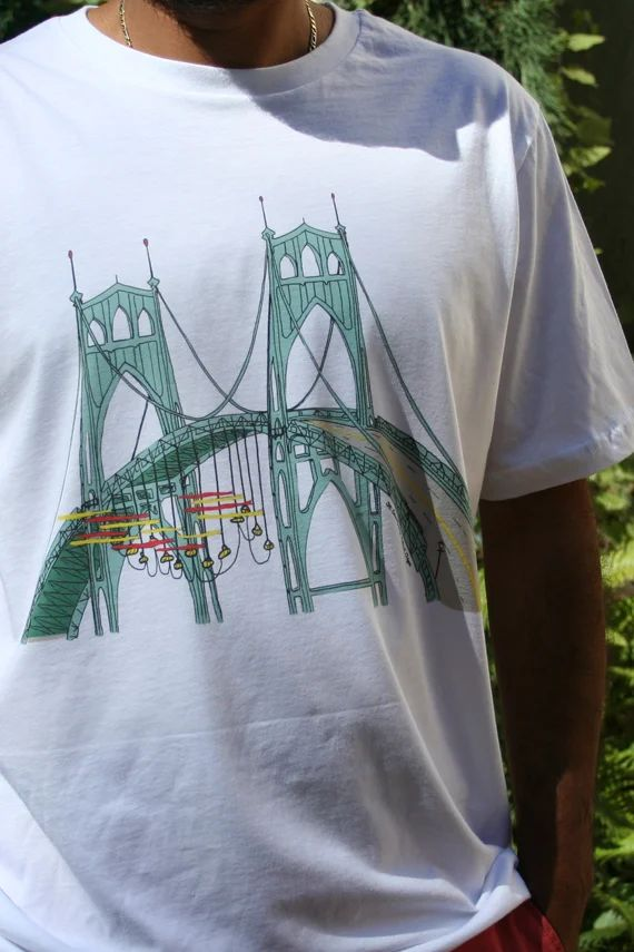 Greenpeace Activists on St. Johns Portland Oregon Bridge T-Shirt