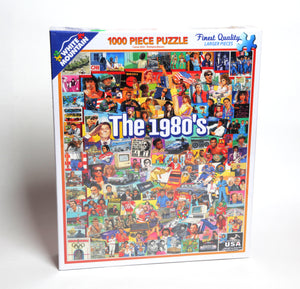 The Eighties 1000 PC Puzzle-White Mountain Puzzles - CEG & Supply LLC