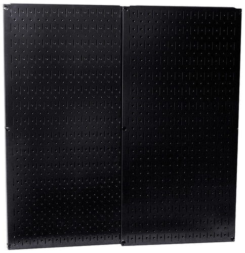 Black Metal Pegboard Pack - Two 32in x 16in Pegboard Tool Boards - CEG & Supply LLC