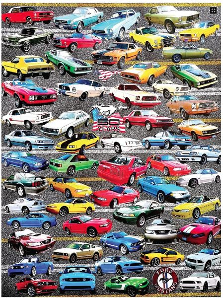 50 Years of Mustangs - 550 Piece Puzzle - White Mountain Puzzles - CEG & Supply LLC