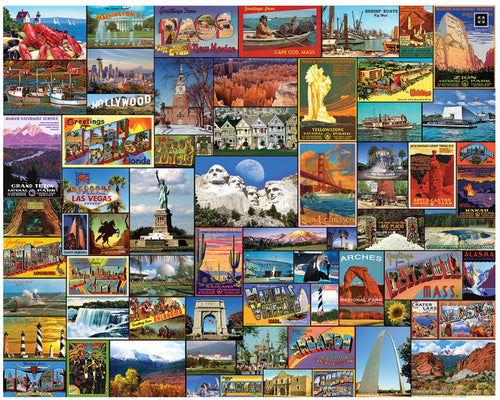 Best Places in America- 1000 PC - White Mountain Puzzles - CEG & Supply LLC