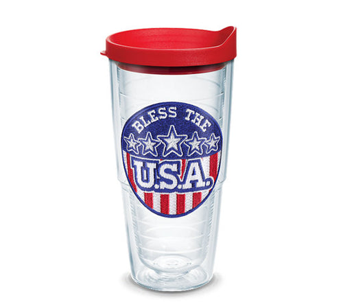 Bless The USA 24oz Tervis with Travel Lid - CEG & Supply LLC