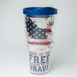 Home Of The Free Because Of The Brave 24oz Tervis