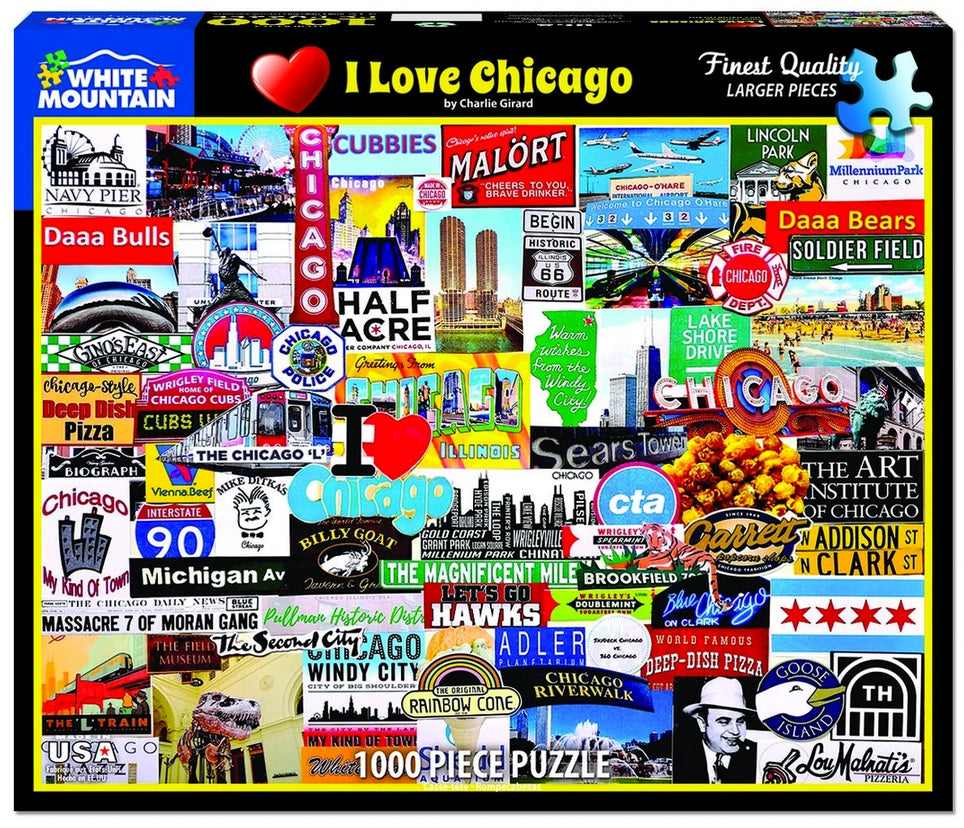 I Love Chicago - 1000 Piece Jigsaw Puzzle
