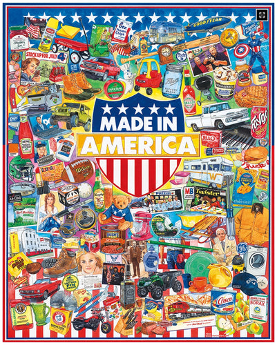 Made In America- White Mountain 1000 Piece Puzzle - CEG & Supply LLC