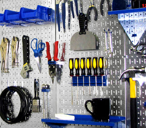 Galvanized Steel Metal Pegboard Pack - Two 32in x 16in Pegboard Tool Boards - CEG & Supply LLC
