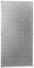 32in x 16in Galvanized Metal Pegboard Tool Board Panel - Metallic - CEG & Supply LLC