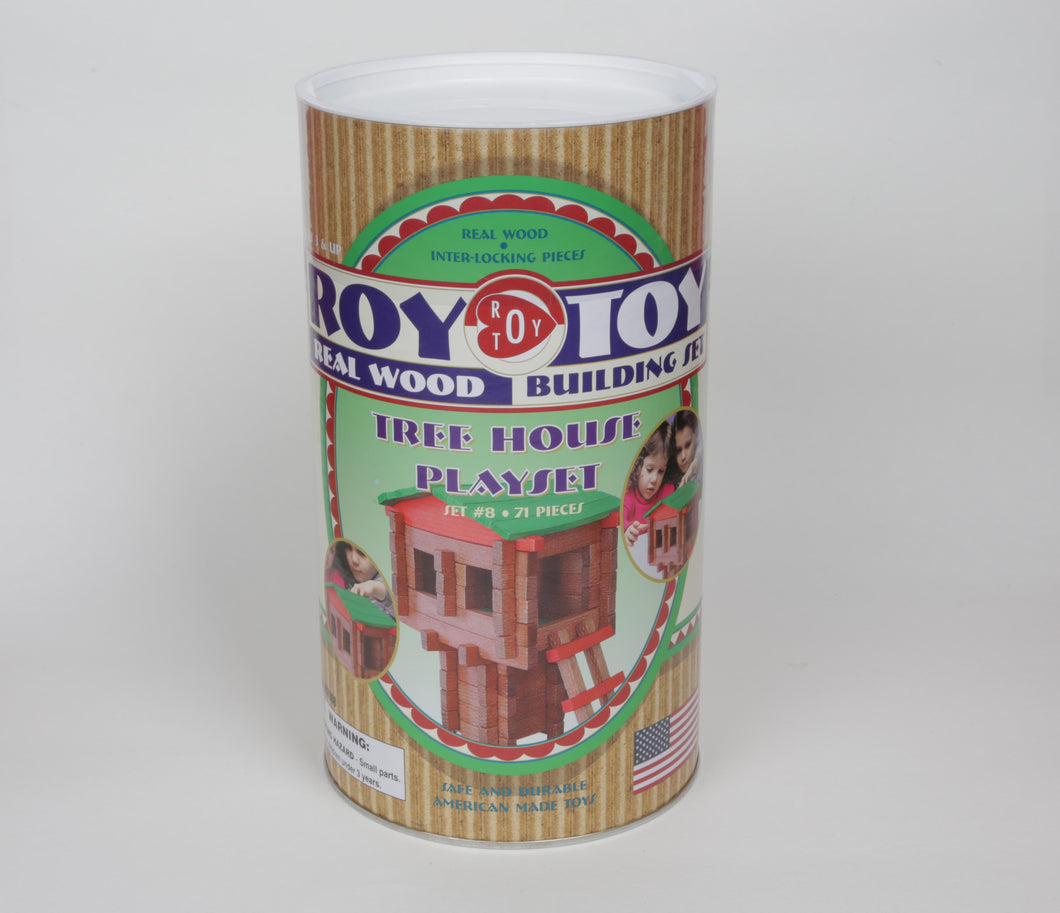 Roy Toy Wooden Tree House Playset