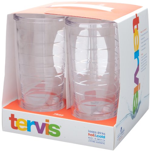 Tervis Tumblers 16 oz Clear Gift Set of 4