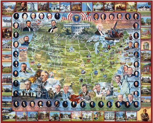 United States Presidents Puzzle-White Mountain Puzzles - CEG & Supply LLC