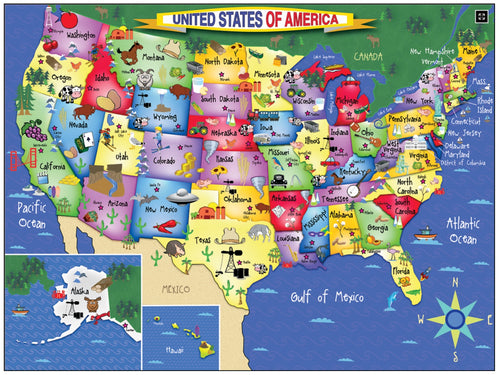 United States of America Puzzle - White Mountain Puzzles - CEG & Supply LLC