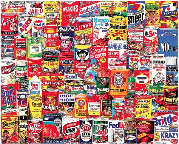 Wacky Packages - 1000 Pieces-White Mountain Puzzles - CEG & Supply LLC