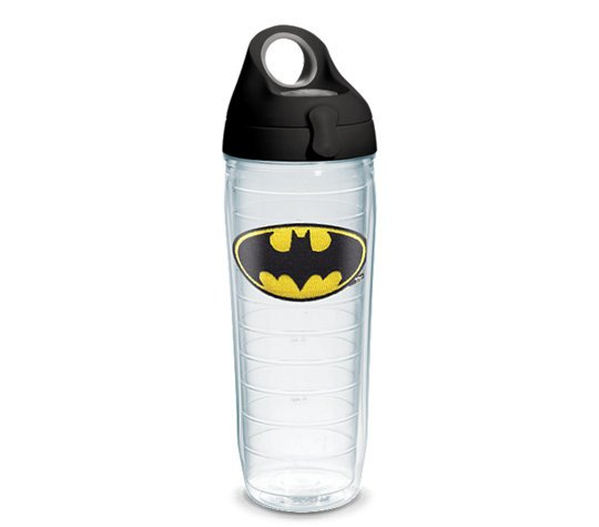 Batman Tervis Water Bottle. Made in the USA with a lifetime warranty.  Tervis is the best tumbler in its class.