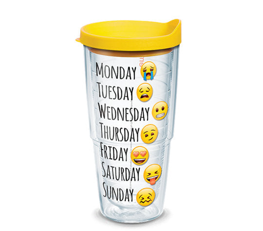 emoji™ - Days of the Week 24oz Tervis - CEG & Supply LLC