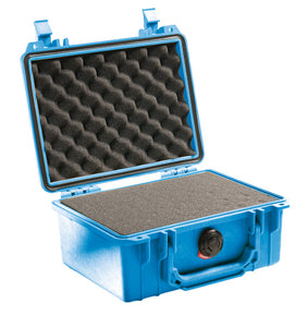 Blue with foam Pelican 1150 Protector Case made USA with a lifetime warranty.