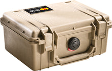 Tan Pelican 1150 Protector Case made USA with a lifetime warranty.