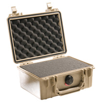 Tan with foam Pelican 1150 Protector Case made USA with a lifetime warranty.