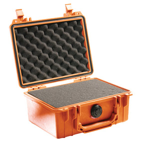 Orange with foam Pelican 1150 Protector Case made USA with a lifetime warranty.